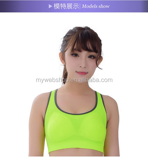 Neon Color Seamless Quick Dry Sports Bra - Stylish Yoga Gym Training Running Compression High Support Bra Top Sports Clothing