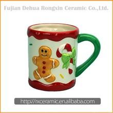 Christmas series design 3D hand-painted ceramic christmas mugs on sale