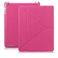 Transformers Cross Texture Premium Smart Cover Leather Case for iPad 4 3 2