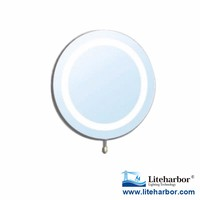 CE ETL UL 4W Round Ring Lighting IP44 Rated LED Lighted Bathroom Mirror for Makeup