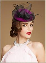 Korean style women wool fascinator hat custom wool felt ladies church hat with cheap price