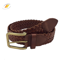 100% genuine leather belts braided leather belts for men