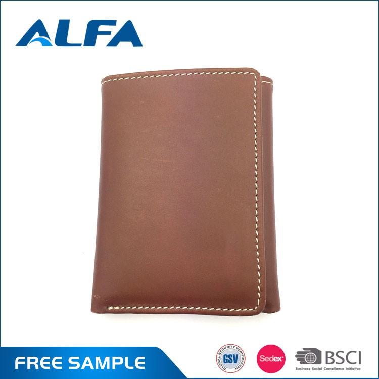 Alfa Quality Products Men Leather Wallet Custom Design Genuine Leather Money Bag