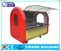 New Style Food Kiosk Mobile Fast Food Van For Sale