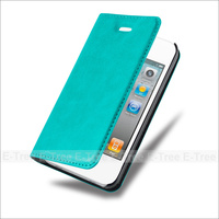 Magnet Flip card slots stand wallet PU leather cover phone case for Apple Iphone 4 4s