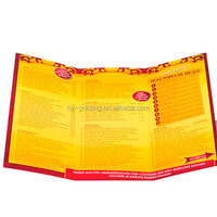 China Factory Menu Printing Accordion Fold Leaflet Printing