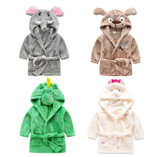 High quality animal Elephants dog mouse dinosaur thermal cosplay flannel unisex kids bathrobes pajamas kigurumi costume