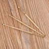 Golden Stainless Steel Long Ear Curette Pick Cleaner Earpick