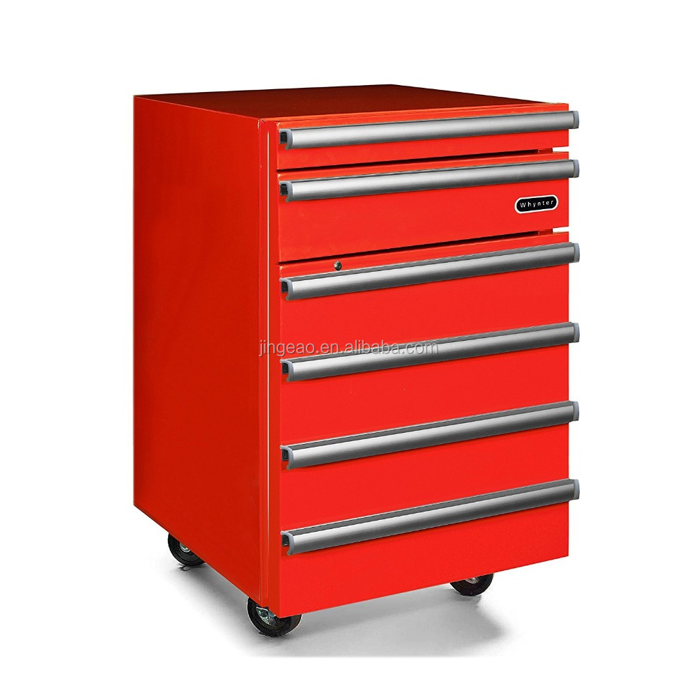 Portable 1.8 cu.ft. Tool Box Refrigerator with 2 Drawers and Lock, Red