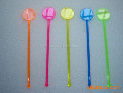 cocktail plastic custom swizzle stick