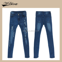 2016 factory china usa top design photo sexy ladies slim fit cotton women jeans pants