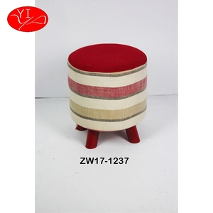 Custom Linen Shoe Store Foot Stool