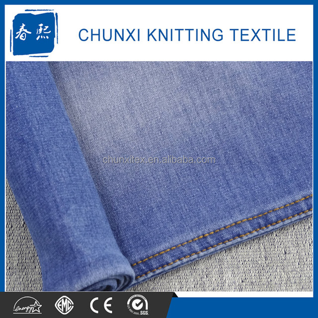 Indigo Knit Spandex Denim Fabric for Wholesale in China