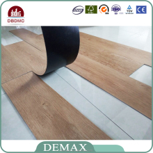 wood look Fireproof Glue Down vinyl Plank Floor clear pvc flooring