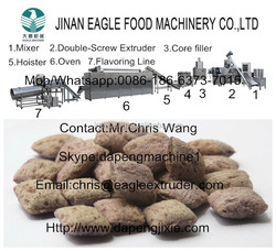 automatic Core filling snacks machine/extrusion machine/ food machine/processing/process/producing/production line/machinery