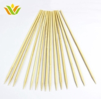 Wholesale Bbq Eco-friendly Natural Bamboo Prong Skewer