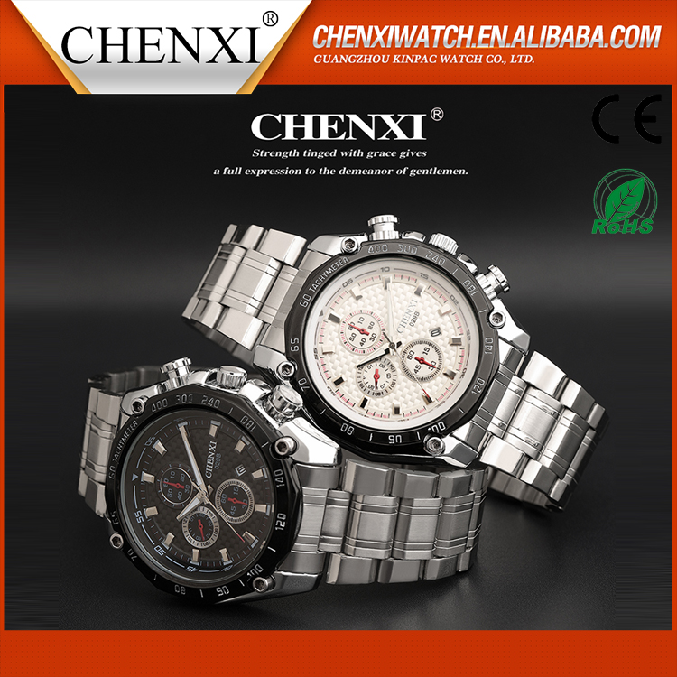Promotion Gift Wholesale CE RoHS Day Date Wrist Watch Water Resistant Men Quartz Sport Watches