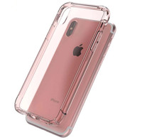 For iphone X clear Hybrid phone case with sound hole turn design hot selling in amazon 2018 new products