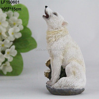 statues resin wolf figurine for sale