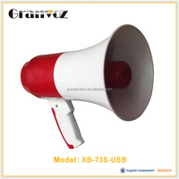 25w Handheld Megaphone with Strap Loud Speaker Cheerleading Bullhorn Hailer