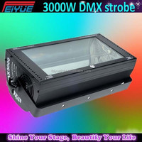 widely used show party equipments stage light 3000w DMX strobe