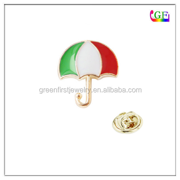 Italy flag color umbrella LAPEL PIN brooch