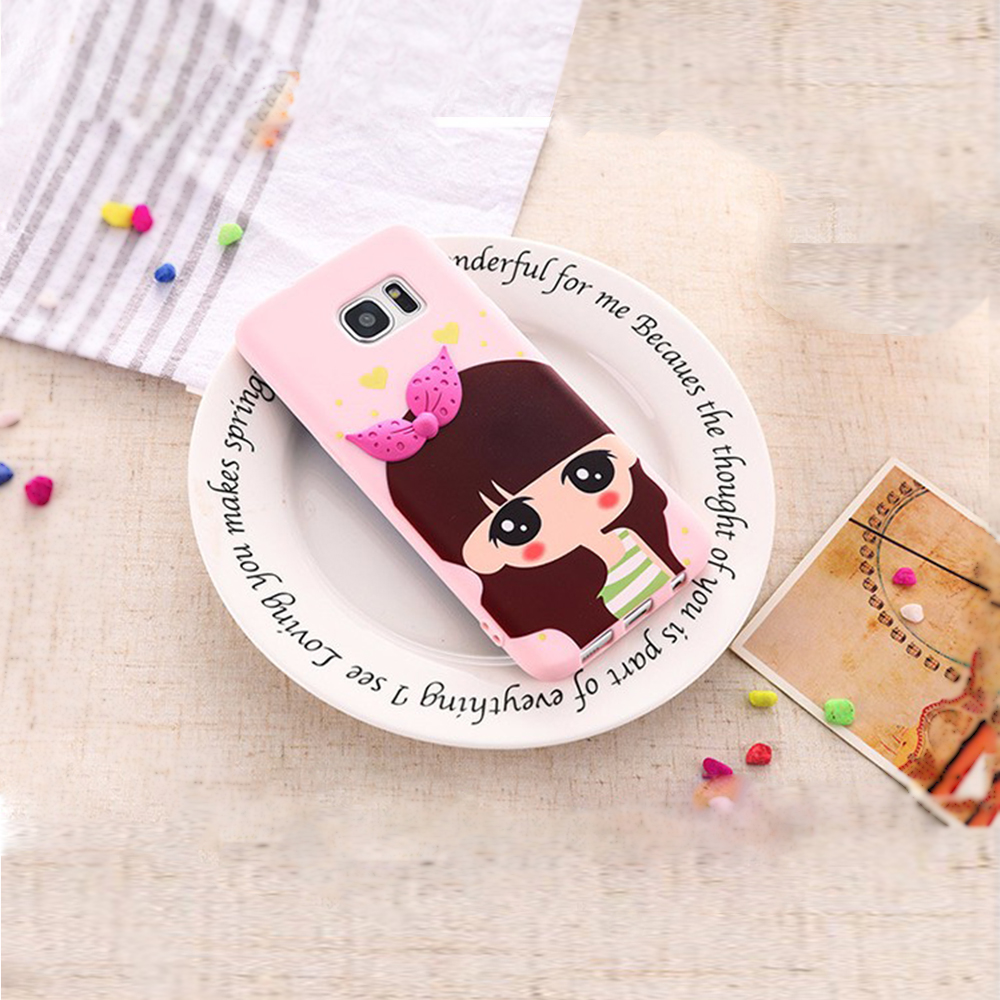 oem silicone 3d cartoon cell phone cover for samsung galaxy s6