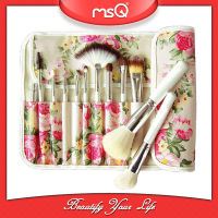 MSQ 12pcs Makeup Brush With A Flower Texture