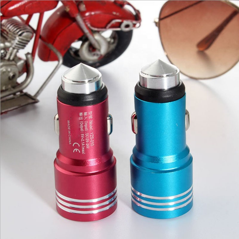 Portable 5v 2.4a usb car charger