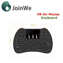New Arriving Wholesale USB Wirelesss Keyboard H9 for Computer Android Tv Box