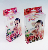 Clear plastic cosmetic case packaging with high quality