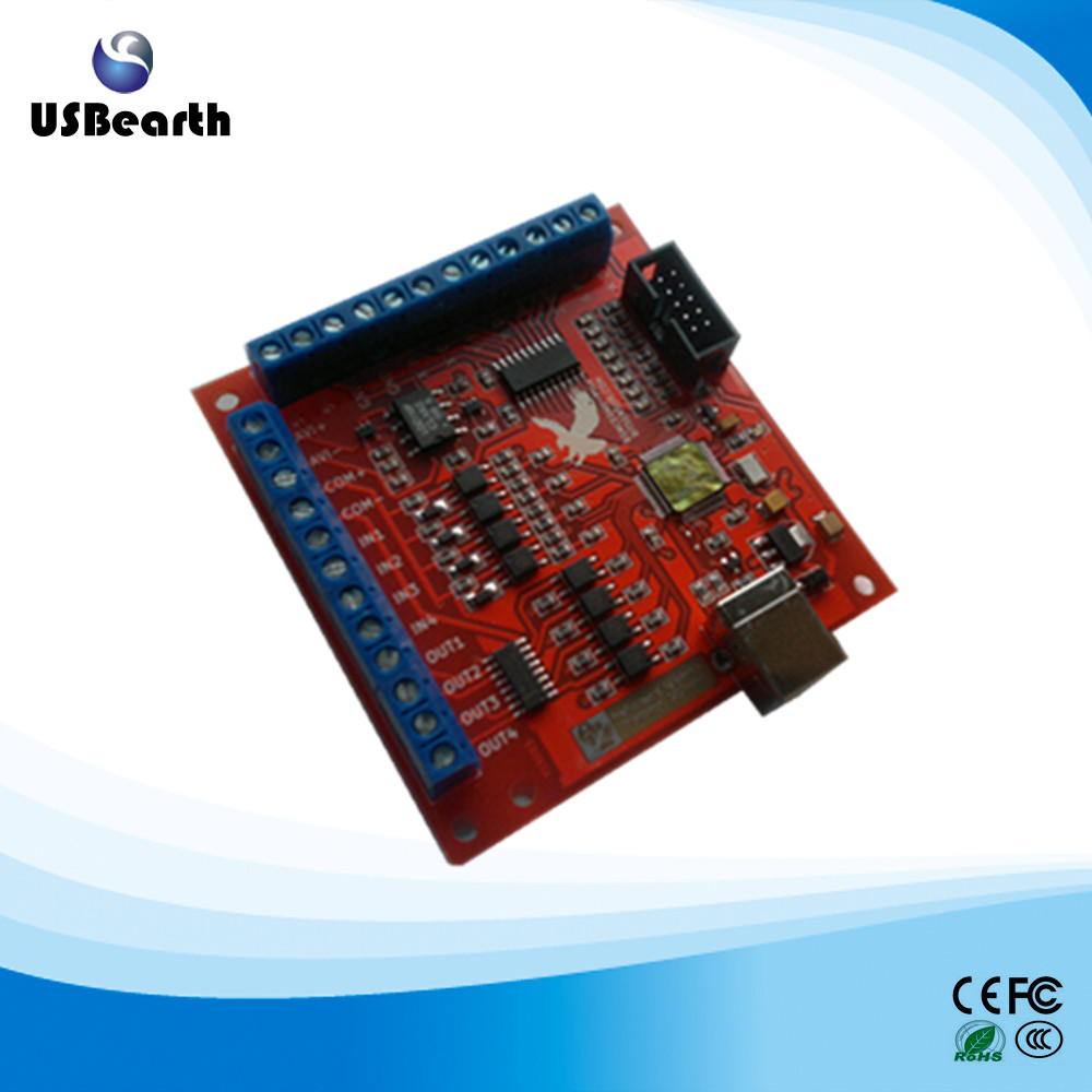 CNC MACH3 USB 4 Axis 100KHz Motion Controller card breakout board