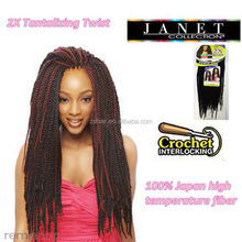 The Janet Collection 2X Tantalizing Twist Crochet Hair Install 2packs/set 40Strands