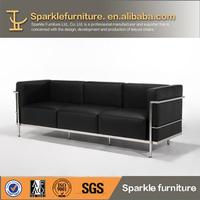 LC2 Modern Leather Single Sofa Living