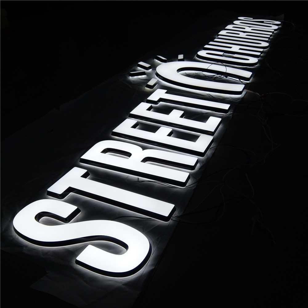 Energy saving cost effective outdoor restaurant logo and names led letters 3d letter <strong>sign</strong>