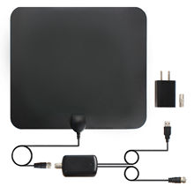 High quality tv indoor antenna 50 Miles Amplified HD Digital Indoor Adapter Coax Cable TV Antenna with SMA Connector
