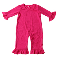 Hot selling baby suit clothes high quality low price Cotton fabric solid jumpsuit for girls