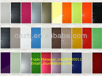 High glossy uv paint mdf panel with wood grain (for furniture and kitchen cabinet door)