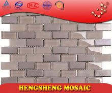 New Design Chinese Foshan Plating Strip Cube Glass Mosaic mosaic tile patterns for tables