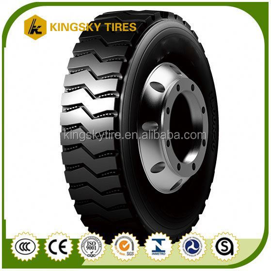 Commercial radial truck tire 245/70R17.5 with DOT certification