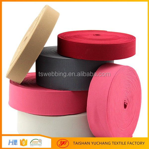 Oeko-Tex 3 inch woven elastic band webbing weaving factory supplier
