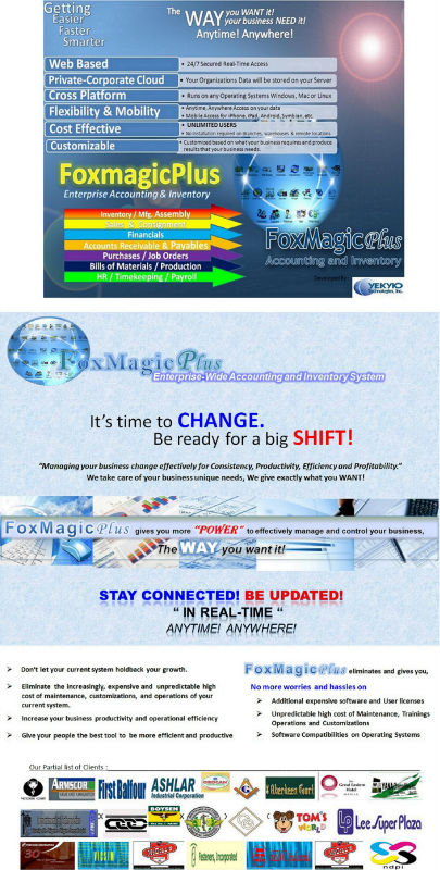 FOXMAGIC PLUS Web Based Accounting and Inventory System