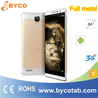 Newest cheap 5.5 inch touch creen dual sim 3G MTK Android 4.4 Full metal body mobile phone