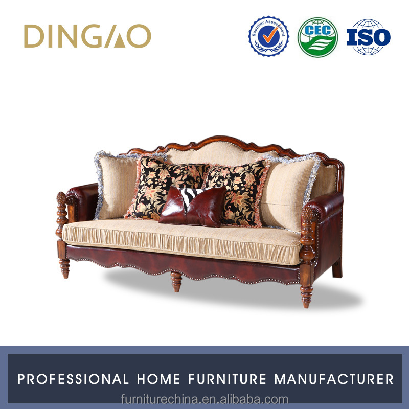 Classic Design Settee Wood Couch Room Furniture X9006B-1
