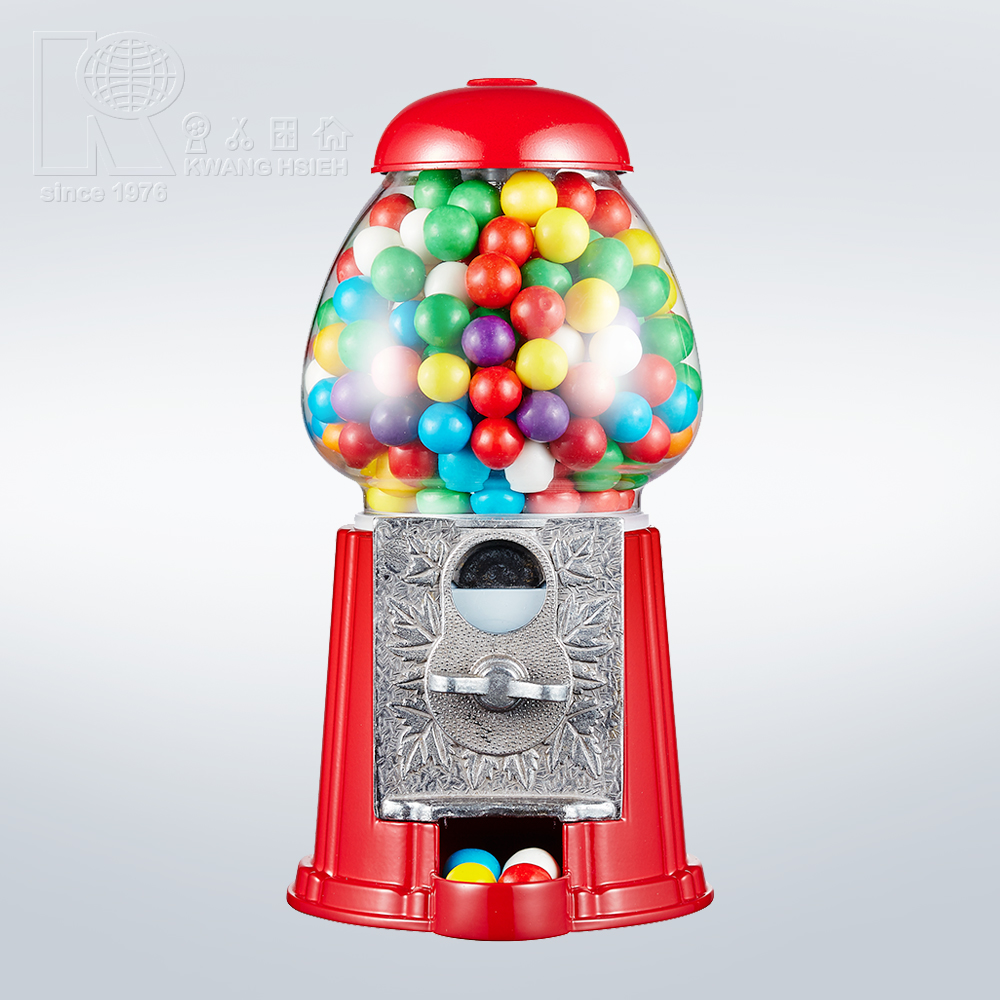 Kwang Hsieh Red Metal Home Gumball Machine Dispenser