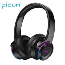 Picun B9 Foldable BT 5.0 LED <strong>RGB</strong> Breathing Light Headphone Fast Charging Bluetooth Headset Touch Control Wireless Headphones