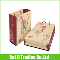 gift packaging soft loop plain cheap brown paper bags with handles