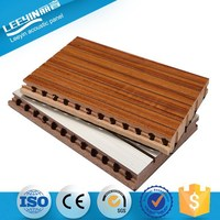28-4 Decorative Ceiling Grooved Acoustic Panel with Plastic Combination Board