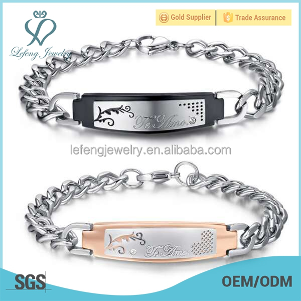 Unique stainless steel forever love bracelets,i love you more bracelets jewelry