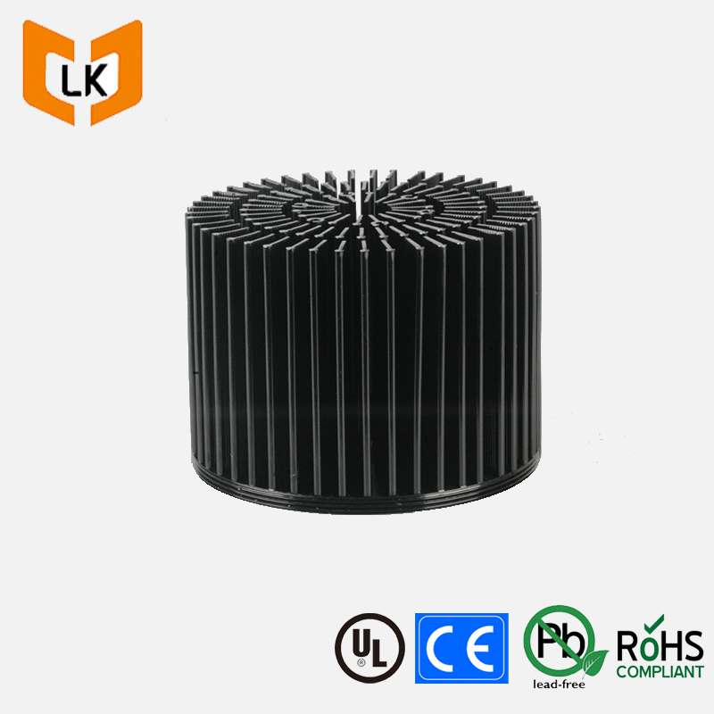 Latest pin heatsink round aluminum folded fin heat sink